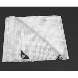 King Canopy Clear Polyethylene Tarp, 50' L x 30' W