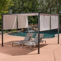 Great Deal Furniture Dione Outdoor Steel Framed 10' by 10' G