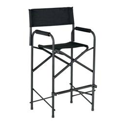 E-Z UP Directors Chair, Tall Black
