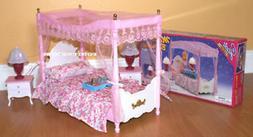 GLORIA DOLLHOUSE FURNITURE SIZE Canopy MASTER BEDROOM NIGHT