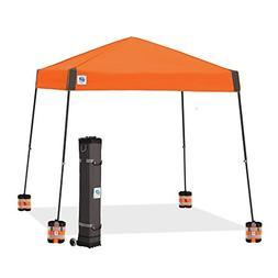 E- Z UP Vista 12x12 Canopy Steel Orange Top, Steel Grey Fram