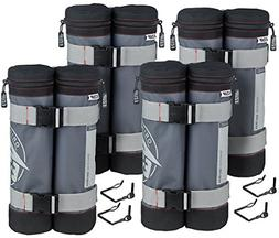 E-Z UP WB3GYBK4 Deluxe Weight Bags, Set of 4