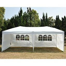 Outsunny 10' x 20' Easy Pop Up Canopy Party Tent - White w/