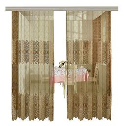 Aside Bside Embroidered Sheer Curtains beads Rod Pocket Top