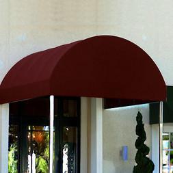 Awntech Entrance Canopy, 6' W x 14' D x 8' H, Burgundy