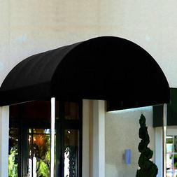 Awntech Entrance Canopy Black 6'W x 10'D x 8'H