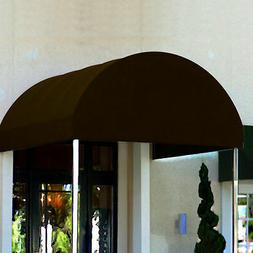 Awntech Entrance Canopy Brown 6'W x 18'D x 8'H