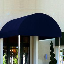 Awntech Entrance Canopy Navy Blue 6'W x 12'D x 8'H