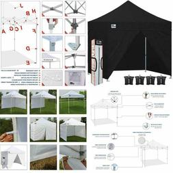 Eurmax 10 X 10 Pop Up Canopy Commercial Tent With 4 Zippered