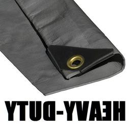 6'X30' EXTRA Heavy Duty 12 mil Silver Tarp 3 Ply Coated Rein
