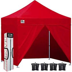 Eurmax 10 x 10 Commercial Pop up Canopy Tent Shelter with Fu