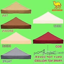 Strong Camel Ez pop Up Canopy Replacement Top instant 10'X10