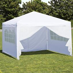 Best Choice Products 10' x 10' EZ Pop Up Canopy Tent Side Wa