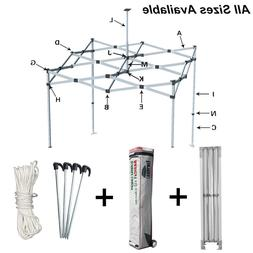 Ez Pop Up Canopy Tent Frame With Storage Wheeled Bag,Stakes