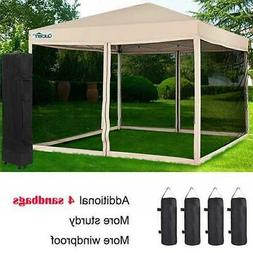 Quictent Ez Pop Up Gazebo Canopy with Netting Screen House M