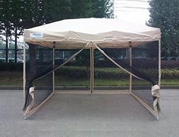 Quictent 8x8 Ft Easy Pop up Canopy with Netting Screen House