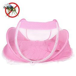 Yosoo Foldable Baby Infant Pop-up Crib Cradle Anti-Bug Tent