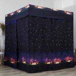 Galaxy Star Four Corner Post Bed Light Shading Curtain Canop