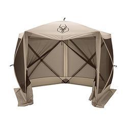 NEW Gazelle Gazebo 6 sided screen tent. quick up hub screen