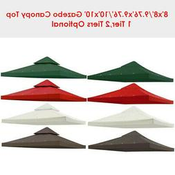 Gazebo Canopy Replacement Top Cover Outdoor Patio Sunshade G