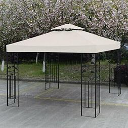 GH 10' X 10' Gazebo Replacement Canopy Top Cover - Beige, Do