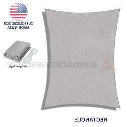 Gray Square Rectangle Sun Shade Sail Fabric Outdoor Canopy P