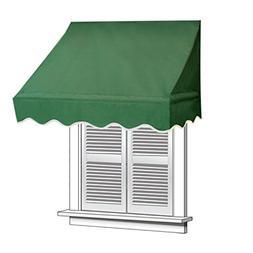 ALEKO 6x2 Green Window Awning Door Canopy 6-Foot Decorator A