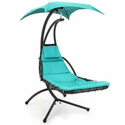 HANGING CHAISE LOUNGE CHAIR/SWING FOR PATIO,POOLSIDE w/PILLO