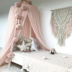 Hanging Chiffon Ball Canopy Nursery Decor For Kids Baby Bed