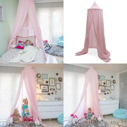 Zeke & Zoey Hanging Princess PINK Bed Canopy Drapes Hideaway