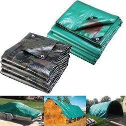 Heavy Duty Poly Tarp Waterproof Canopy Tent Reinforced Cover