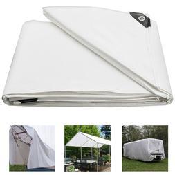 Heavy Duty Poly Tarp Waterproof Tarpaulin Canopy Tent Reinfo
