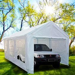 Peaktop 20'x10' Heavy Duty Portable Carport Garage Car S