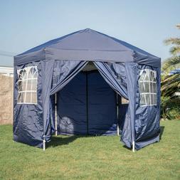 Hexagonal Garden Gazebo Patio Canopy Mosquito Netting Side W