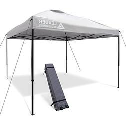 10' x 10' instant canopy pop up canopy straight leg wheeled