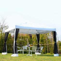 Instant Gazebo 10x10 Pop Up Canopy Mosquito Net Sidewalls Sc