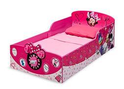 Delta Children Interactive Wood Toddler Bed, Disney Minnie M