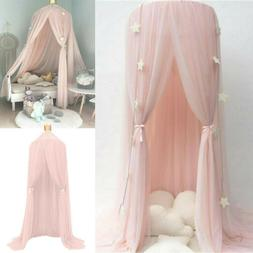 Kids Baby Bed Canopy Bedcover Mosquito Net Curtain Bedding D