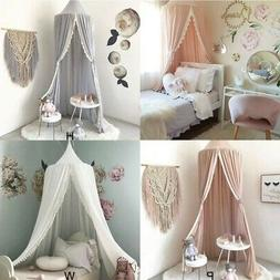 Kids Baby Girls Bedcover Bed Canopy Mosquito Net Chiffon Cur