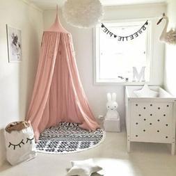 Kids Bed Canopy Mosquito Net Dome Single Door Cotton Hanging