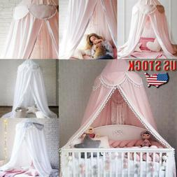 Kids Bedding Round Dome Canopy Play Tent Cotton Mosquito Net