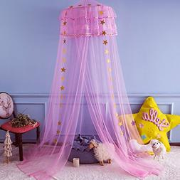 Twinkle Star Kids Mosquito Netting Princess Bed Canopy 3 Lay
