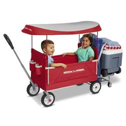 Kids Tailgater Wagon Canopy Foldable Compact Convertible Rad