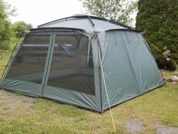 Yanes® Kuche 12x12 Foot Screen Gazebo Tent with Rain Flaps
