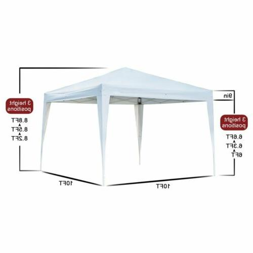 10' Pop Gazebo Canopy Party Tent with Garden
