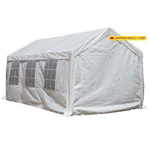 Abba 20-Feet Duty Car Shelter Windows