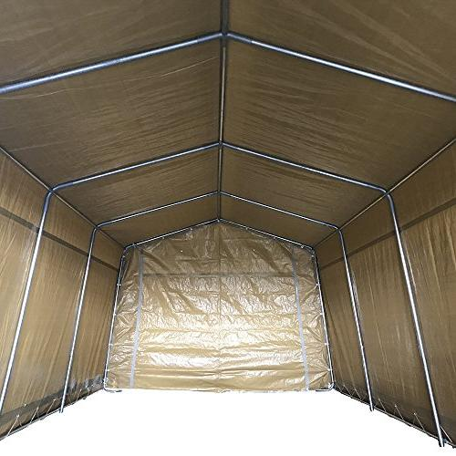 kdgarden x 20 ft. Carport Portable Enclosed Car Canopy Outdoor Garage Tent Boat Storage, Top