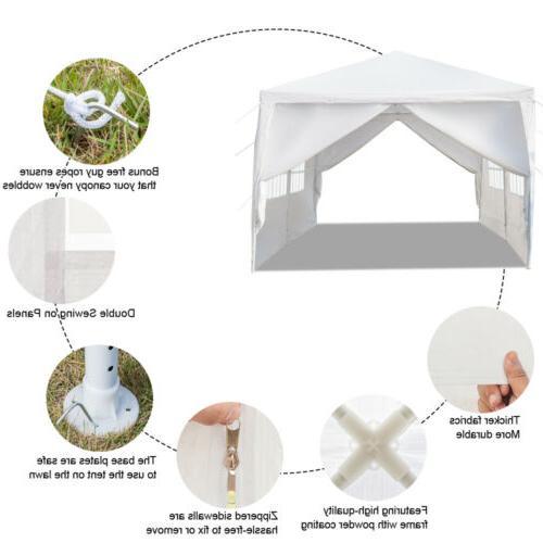 10'x Party Tent PE Gazebo Wedding Removable