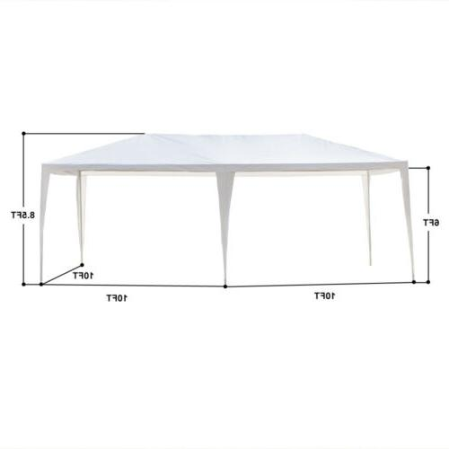 10'x 20' Party Tent PE Wedding Canopy w/6 Sides Removable Wall