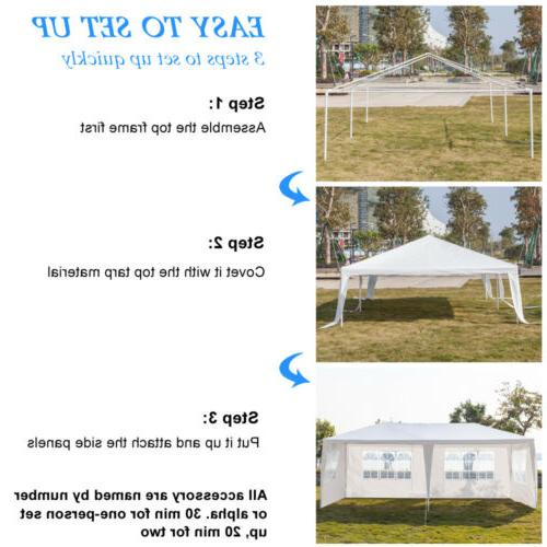 10'x Heavy Duty Party Wedding Canopy Sides Removable Wall